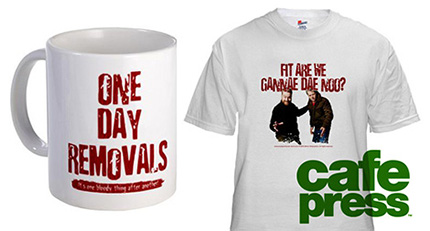 Online sales for One Day Removals merchandise